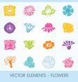 Elements - flowers vector