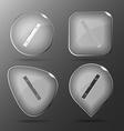 Spirit level glass buttons vector