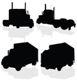 Truck black silhouette vector