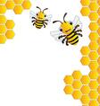 Happy bees background vector