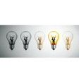 Light bulb the concept of idea vector