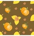 Seamless autumn vegetable pattern vector