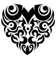 Tribal heart valentine swirl vector