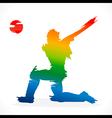 Batsmen hit the ball design vector