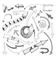 Arrows icon sketch vector