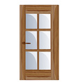 Interior apartment wooden door vector