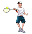Cartoon man playing tennis vector