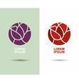 Logo flower abstract icon design template flourish vector