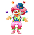 A clown with her balls vector