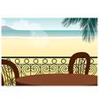 Seaside cafe background vector
