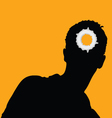 Man head and hole on it vector
