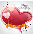 Card for valentines day with hearts and balloons vector