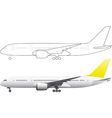 Airplane on white background vector