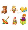 Various toys vector