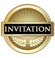 Invitation gold label vector
