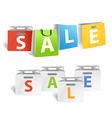 Sale promo banners isolated on white vector