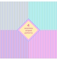 Seamless striped background set vector