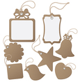 Set ot label tag isolated on white vector