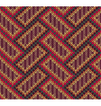 Style seamless brown red brown yellow color knitte vector