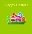 Paper card with easter eggs vector