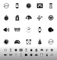 Time related icons on white background vector