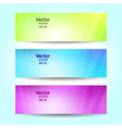 Abstract blurred banner set vector
