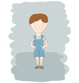 Child boy sketch vector