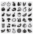 Fruit and vegetables set vector