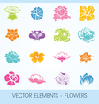 Elements - flowers vector