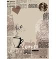 Vertical coffee background vector