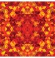 Triangular mosaic orange background vector