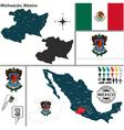 Map of michoacan vector