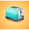 Bright metal toaster background vector