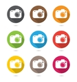 Hipster photo or camera icon set with shadow vector