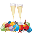 Champagne celebration glasses vector