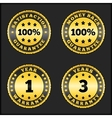 Guarantee badges vector