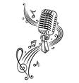 Sheet music music microphone vector