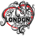 London doodle heart shape vector