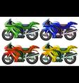 Four superbikes vector