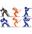 Biatlon icons vector