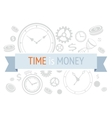 Time is money icons concept vector