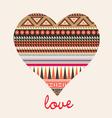 Ornamental heart valentine card vector