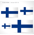Finland flag template vector