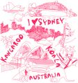 Australia doodles vector