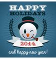 Christmas holiday snowman vector