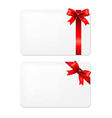Red bow and blank gift tags vector