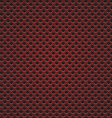 Red circle perforated carbon speaker grill texture vector