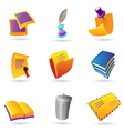 Icons for stationery vector