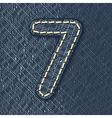 Number 7 made from jeans fabric vector