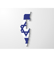 Israel map with shadow effect presentation vector
